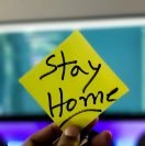 Stay Home Stickie Note - COVID-19 housing crisis
